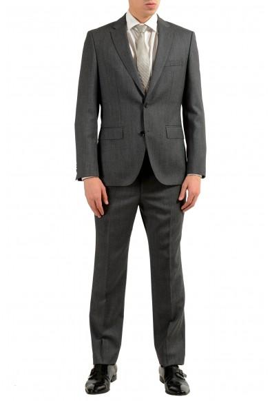 """Hugo Boss """"Johnston3/Lenon1"""" Men's 100% Wool Gray Two Button Suit"""