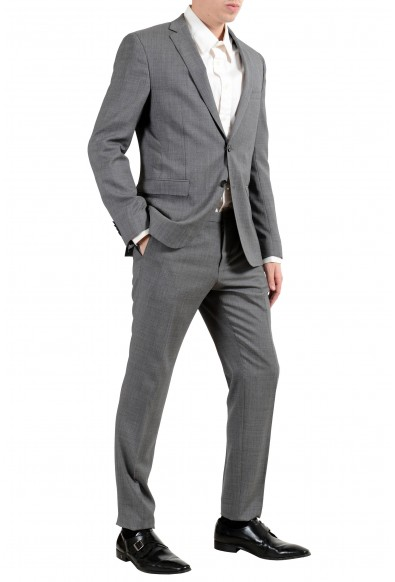 """Hugo Boss """"Reyno4/Wave2"""" Men's 100% Wool Extra Slim Gray Two Button Suit: Picture 2"""
