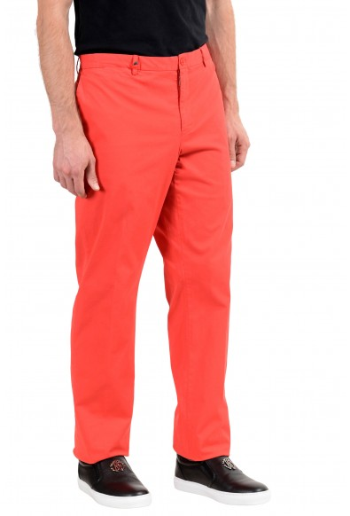 Versace Collection Men's Red Stretch Casual Pants: Picture 2