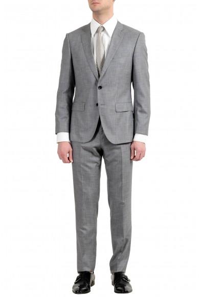 """Hugo Boss """"Huge6/Genius5"""" Men's Silk Wool Gray Silk Two Button Suit"""
