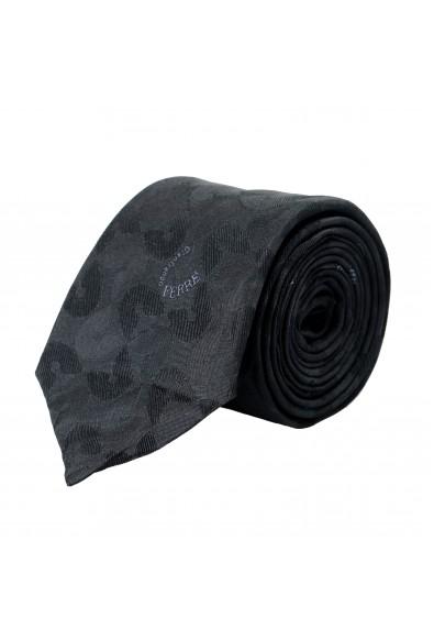 Gianfranco Ferre Men's Gray Logo Print 100% Silk Neck Tie