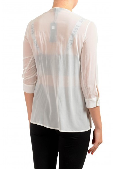 Just Cavalli Women's See Through White Silk Blouse Top: Picture 2