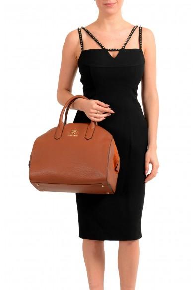 Roberto Cavalli Women's Brown Leather Shoulder Handbag Satchel Bag: Picture 2
