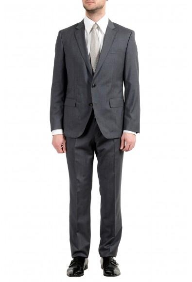 "Hugo Boss ""Huge5/Genius3"" Men's 100% Wool Gray Plaid Two Button Suit"