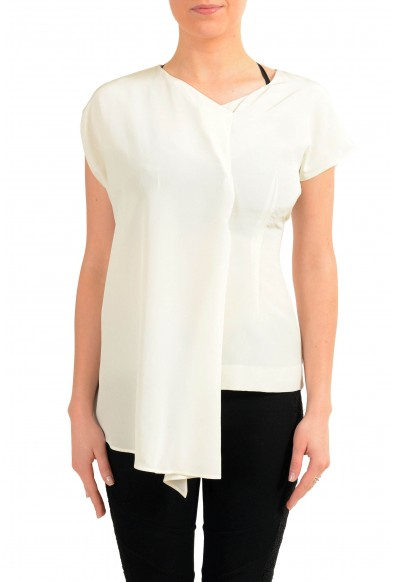 Maison Margiela 1 Women's 100% Silk Asymmetrical Blouse Top
