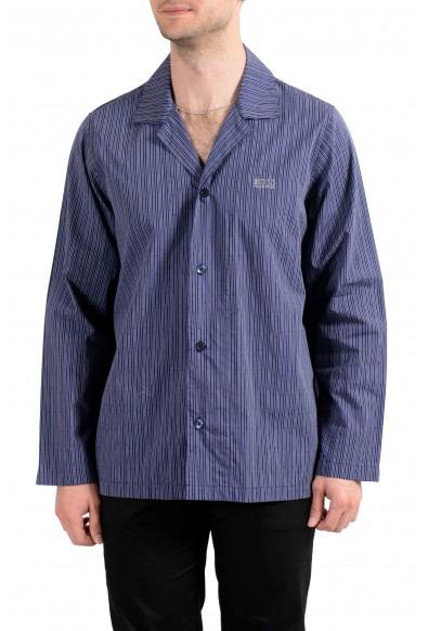 Hugo Boss Men's Striped Long Sleeve Cotton Pajama Shirt