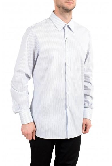 Prada Men's Striped Long Sleeve Dress Shirt