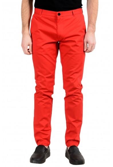"Hugo Boss ""Heldor2"" Men's Red Stretch Casual Pants"