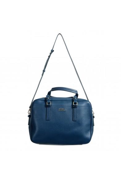 Versace Collection Women's Blue Pebbled Shoulder Handbag Bag