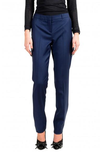 """Hugo Boss Women's """"Tilunana2"""" Blue Wool Dress Pants"""
