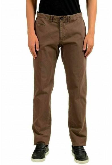 Moncler Men's Brown Stretch Casual Pants