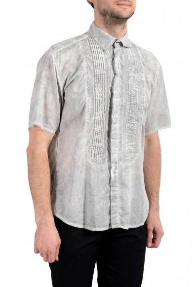 Dolce&Gabbana D&G Men's Faded Gray Short Sleeve Dress Shirt : Picture 2