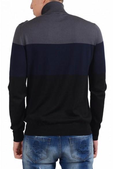 Prada Men's 100% Wool Turtleneck Multi-Color Sweater : Picture 2
