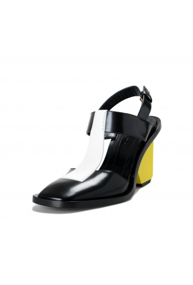 Marni Women's Black Leather Strappy Heeled Sandals Shoes