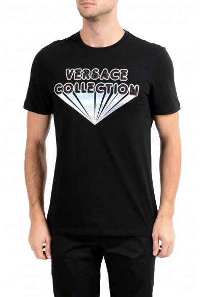 Versace Collection Men's Black Graphic Crewneck T-Shirt