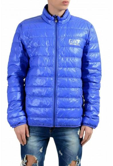 Emporio Armani EA7 Men's Blue Duck Down Full Zip Light Parka Jacket