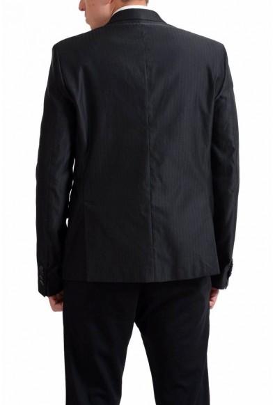 Exte Men's Black Striped Two Button Blazer Sport Coat : Picture 2
