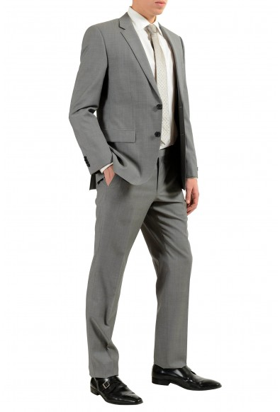 """Hugo Boss """"TheGrand1/Central1US"""" Men's 100% Wool Gray Two Button Suit: Picture 2"""