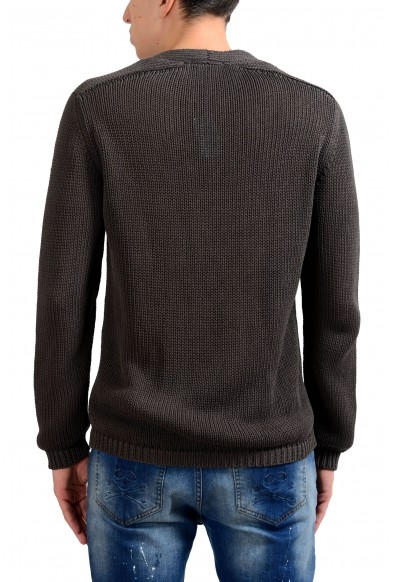 Malo Men's Gray Crewneck Heavy Knitted Sweater: Picture 2