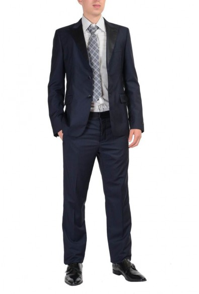 Prada Wool Navy Tuxedo Style Two Buttons Men's Suit : Picture 2