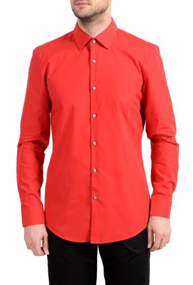 """Hugo Boss """"C-Jenno"""" Men's Slim Red Long Sleeve Dress Shirt"""