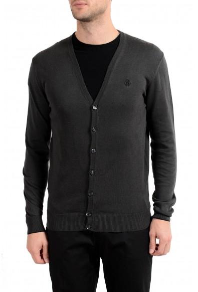 Roberto Cavalli Men's Cashmere Dark Gray Cardigan Sweater