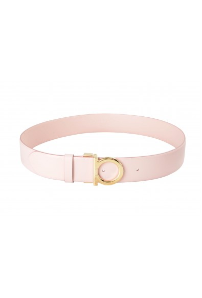 Salvatore Ferragamo Women's Pink 100% Leather Buckle Decorated Belt: Picture 2