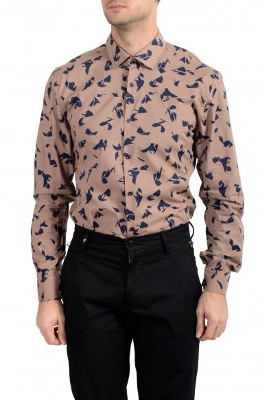 "Hugo Boss Men's ""Ismo"" Slim Fit Geometric Print Dress Shirt"
