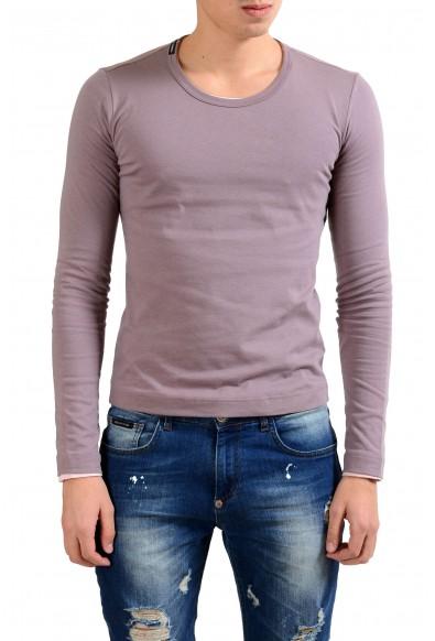 Dolce & Gabbana Men's Crewneck Purple Long Sleeve Reversible T-Shirt