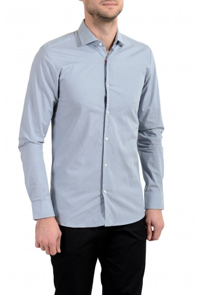 """Hugo Boss """"EastonX"""" Men's Slim Gray Long Sleeve Dress Shirt"""