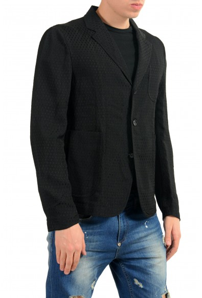 Alexander McQueen Men's Black Three Button Light Blazer Sport Coat: Picture 2