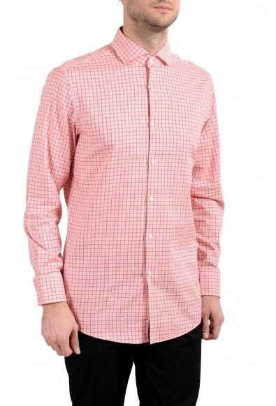 "Hugo Boss ""Mark US"" Men's Sharp Fit Plaid Long Sleeve Dress Shirt"