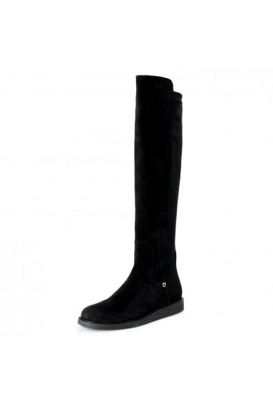 """Salvatore Ferragamo Women's """"FESTER"""" Black Suede Leather Boots Shoes"""