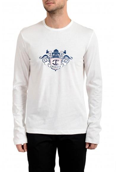 Just Cavalli Men's White Long Sleeve Crewneck T-Shirt