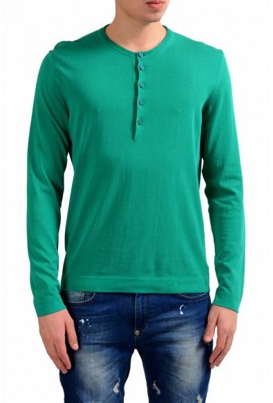Malo Men's Green Henley Light Sweater