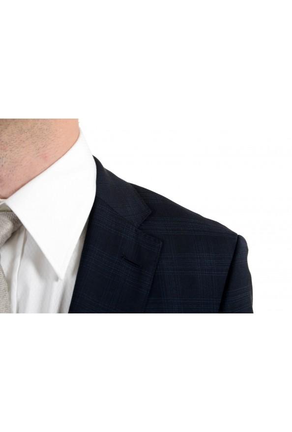 "Hugo Boss ""Johnstons2/Lenon"" Men's 100% Wool Blue Plaid Two Button Suit: Picture 9"