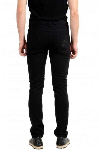 Roberto Cavalli Men's Black Stretch Skinny Jeans: Picture 2