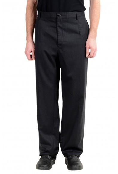 Dolce&Gabbana Men's 100% Wool Charcoal Dress Pants