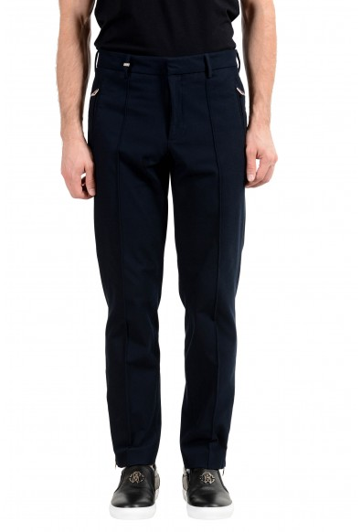 Versace Collection Men's Navy Blue Casual Pants