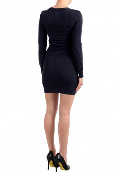 John Galliano Women's Purple 100% Wool Knitted Bodycon Dress: Picture 2