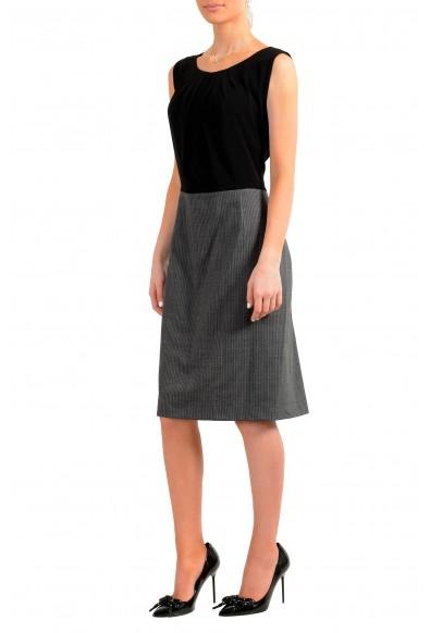 "Hugo Boss Women's ""Dorini"" Two Tone Wool Sleeveless Pencil Dress: Picture 2"