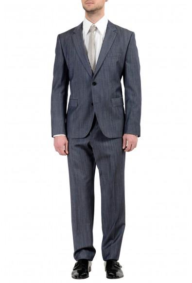 "Hugo Boss ""C-Jeffery/C-Simmons"" Men's 100% Wool Dark Blue Two Button Suit"