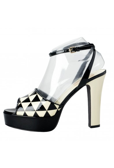 Valentino Garavani Women's Patent Leather Slingbacks High Heels Open Toe Shoes: Picture 2