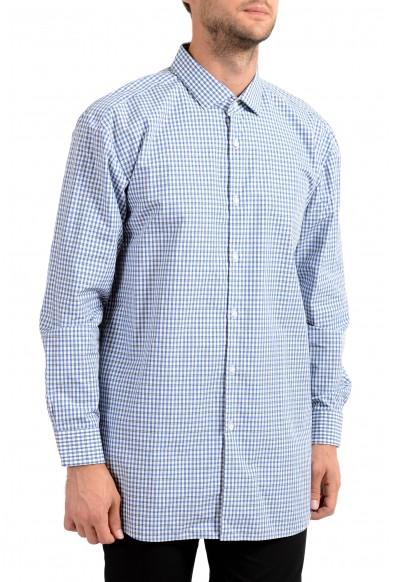 "Hugo Boss Men's ""EastonX"" Slim Fit Plaid Long Sleeve Dress Shirt"