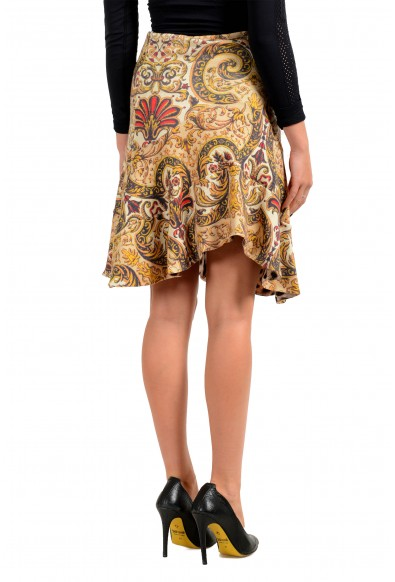 Just Cavalli Women's 100% Wool Floral Print Asymmetrical Skirt: Picture 2