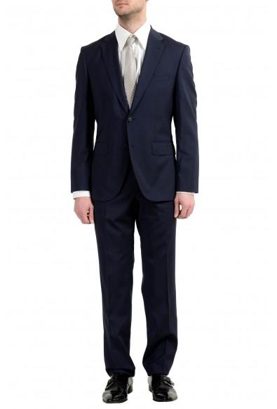 "Hugo Boss ""Jets4/Lenon1"" Men's 100% Wool Blue Two Button Suit"