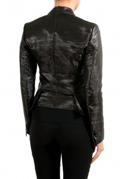 Dsquared2 Wool Silk Sparkling Black One Button Women's Blazer: Picture 2