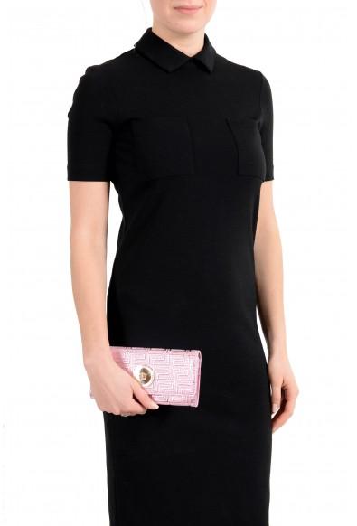 Versace Women's Sparkle Pink 100% Leather Medusa Embellished Wallet: Picture 2