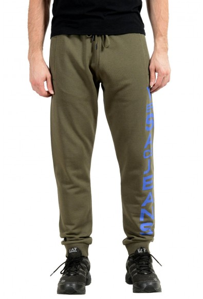 Versace Jeans Men's Green Logo Sweatpants