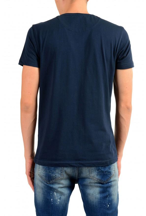 Roberto Cavalli Men's Blue Graphic Print Leopard T-Shirt: Picture 3
